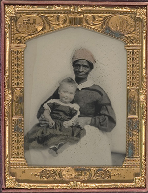 Eighteenth-century photographs, ephemera and personal written recollections of African Americans are invaluable windows to America's past. An example is this fine half-plate ambrotype of an African-American nanny, likely a slave, and her charge. Found in Virginia. Sold in Cowan's Nov. 18, 2005 auction for $3,120. Image courtesy of LiveAuctioneers.com archive and Cowan's.