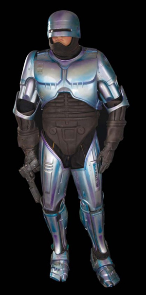 RoboCop costume worn by Peter Weller in the 1990 MGM film RoboCop 2. Auctioned for $17,770 on May 15, 2011 by Profiles in History. Image courtesy of LiveAuctioneers.com archive and Profiles in History.