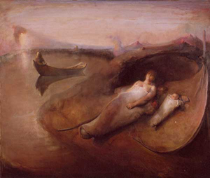 Odd Nerdrum (Norwegian, b. 1944-), Early Morning. Fair use of low-resolution image to illustrate the artist's style. Obtained through wikipedia.org.