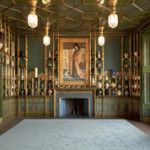 Room installation. Harmony in Blue and Gold: The Peacock Room. James McNeill Whistler (American, 1834-1903). 1876-1877 oil paint and gold leaf on canvas, leather, and wood. Gift of Charles Lang Freer. Image courtesy of the Smithsonian Institution.