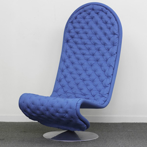 Verner Panton/Fritz Hansen, System 1-2-3 lounge chair, Denmark, 1990s, $800-$1,000. Rago image.