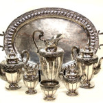 Mexican sterling tea and coffee service, 232.73 troy ounces (estimate $6,000-$8,000). Image courtesy of Austin Auction Gallery.