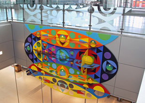 James Wille Faust's 'Chrysalis,' which was installed at the Indianapolis International Airport terminal in 2008, was dismantled and placed in storage . Copyrighted image appears by kind permission of the artist's management.