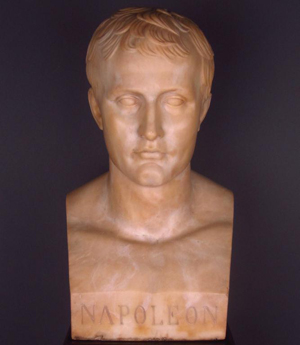 Marble bust of Emperor Napoleon signed 'Canova,' 23 inches high. Estimate $10,000-$15,000. Image courtesy of Leighton Galleries.