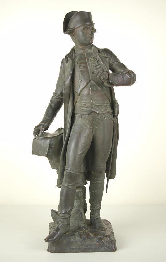 Eugene Marioton, 'Standing Napoleon,' bronze, 27 inches. Estimate $3,000-$5,000. Image courtesy of Leighton Galleries.