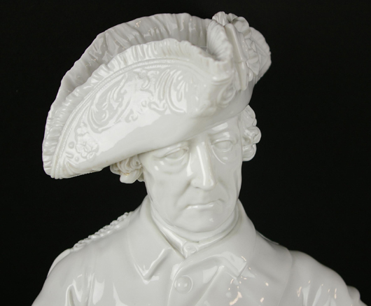 Volkstedt porcelain figure, 'Frederick the Great,' 30 inches. Estimate $600-$800. Image courtesy of Leighton Galleries.