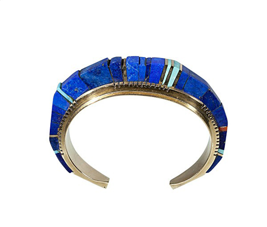 Charles Loloma Hopi bracelet. Estimate: $20,000-$30,000. Image courtesy of Cowan's Auctions Inc.