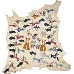 Cadzi Cody Shoshone painted hide collected by Ervin F. Cheney. Estimate: $100,000/120,000. Image courtesy of Cowan's Auctions Inc.