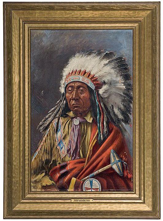 Portrait of Red Cloud by John Hauser. Estimate: $20,000-$30,000. Image courtesy of Cowan's Auctions Inc.
