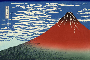 Katsushika Hokusai (Japanese, 1760-1849), 'South Wind, Clear Sky'; part of the series '36 Views of Mount Fuji (No. 2),' first publication circa 1830; this print from the edition printed circa 1930.