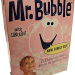 Mr. Bubble bubble bath was originally produced as a powder and sold in a box like this. Over time the iconic bubble bath was converted into a liquid formula. Image courtesy of the Village Co.