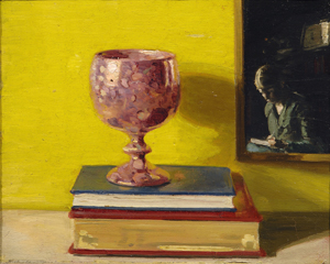 William Nicholson (1872-1949), Rose Lustre, 1920, Oil on panel, 10 ¾ x 13 inches, Private Collection