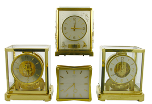 Jaeger LeCoultre clocks will include three Atmoses and a double-sided partners desk clock. Image courtesy of Crescent City Auction Gallery.