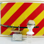 World War II Japanese Naval archive: signal flag from Battleship Nagato, Imperial Naval field cap, samurai sword, U.S. soldier's capture papers with additional grouping of six medals. Est. $3,000-$5,000. Nest Egg Auctions image.