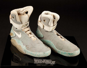 83ad8d9e60e An original pair of Nike shoes from the  Back to the Future II  movie