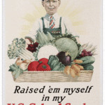 This smiling schoolboy worked in a school victory garden during World War I. The 20-by-30-inch poster brought $575 at a Stein Co. auction in 2011.