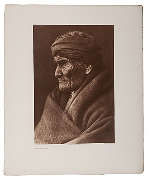 Edward Curtis 'North American Indians Portfolio Volume 1: The Apache. The Jicarillas. The Navaho' realized $28,200. Image courtesy of Cowan's Auctions Inc.