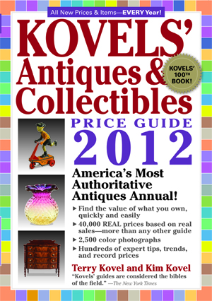The new 44th edition of 'Kovels Antiques & Collectibles Price Guide' contains 722 pages and 2,500 full-color photographs. Image courtesy of Black Dog & Leventhal.
