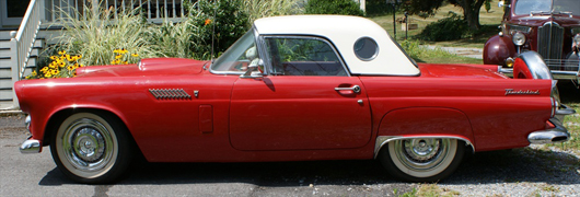 1956 Ford Thunderbird, complete body-off restoration, AACA National Senior Champion. William H. Bunch Auctions image.