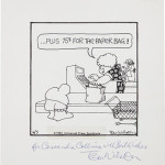 Original comic art autographed by Ziggy creator Tom Wilson St. Image courtesy of LiveAuctioneers Archive and Heritage Auctions.