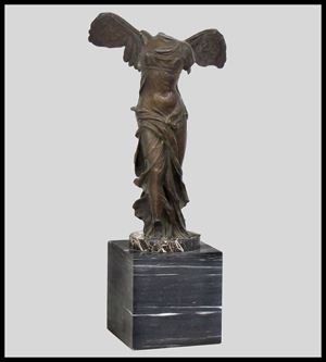 French school (19th century), bronze, Winged Victory, signed 'G. Nisini Roma,' 22 inches high. Image courtesy of William Jenack Estate Appraisers and Auctioneers.