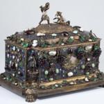 Important French parcel gilt and gem-set jewel casket. Sold: $69,000. Image courtesy of Leland Little Auction & Estate Sales Ltd.