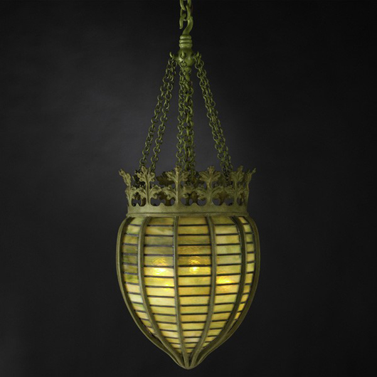 Tiffany Studios rare chandelier, height to crown: 22 inches. Estimate: $25,000-$35,000. Image courtesy of Rago Arts and Auction Center.