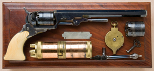 Two views of the cased Colt Patterson revolver that sold for a record $977,500. Image courtesy of Greg Martin Auctions/Heritage Auctions.