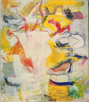 Willem de Kooning (American, born the Netherlands. 1904-1997) 'Pirate (Untitled II),' 1981 Oil on canvas 88 x 76 3/4 inches (223.4 x 194.4 cm) The Museum of Modern Art, New York. Sidney and Harriet Janis Collection Fund, 1982 © 2011 The Willem de Kooning Foundation / Artists Rights Society (ARS), New York