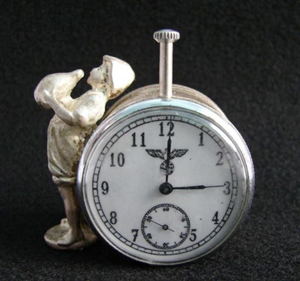 Rare 1936 Olympic Games Nazi Germany stopwatch, possibly the only surviving example, est. $300-$500. Universal Live image.