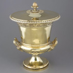 George III Paul Storr silver gilt cup and cover, London, 1808, 136 ounces. Image courtesy of Auction Gallery of the Palm Beaches.