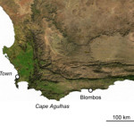 This map created by Vincent Mourre points out the location of Blombos Cave, an archaeological site in South Africa, llicensed under the Creative Commons Attribution-Share Alike 3.0 Unported license.