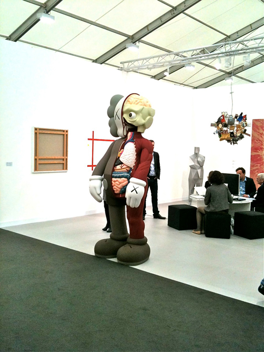 The stand of Parisian contemporary art dealer Emmanuel Perrotin at Frieze fair in London. Image courtesy of Auction Central News.