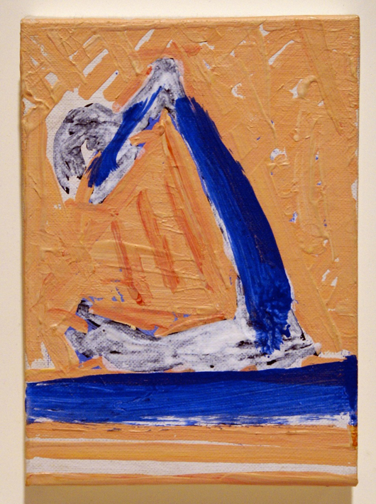 Robert Motherwell (1915-1991), 'Summertime in Italy Sketch No.12,' 1970. Acrylic on canvas-board. On the stand of Bernard Jacobson at the Pavilion of Art and design, London in October. Image courtesy of Bernard Jacobson Gallery.