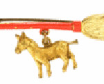 Political collectors know that this broom-and-donkey pin was made for Franklin D. Roosevelt's 1932 presidential campaign. It sold, over estimate, for $113 at a Hake's Americana and Collectibles auction in York, Pa.