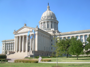 The Oklahoma state Capitol in Oklahoma City opened in 1917. Image by Caleb Long. This file is licensed under the Creative Commons Attribution-Share Alike 2.5 Generic, 2.0 Generic and 1.0 Generic license.
