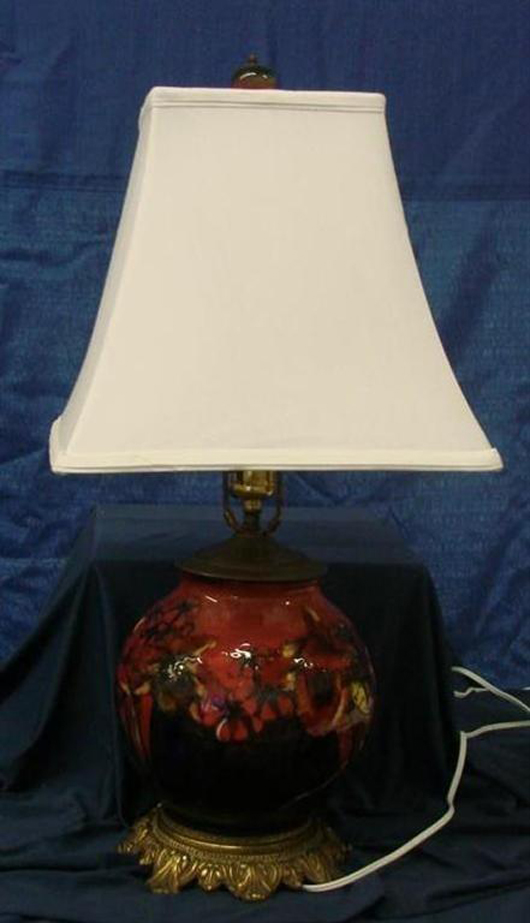 Rookwood lamp, lot 667. Image courtesy of Professional Appraisers & Liquidators.