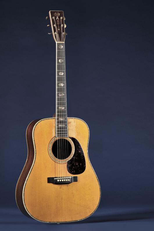 American Guitar, C.F. Martin & Co., Nazareth, 1941, Style D-45, $180,000-240,000. Image courtesy of Skinner Inc.