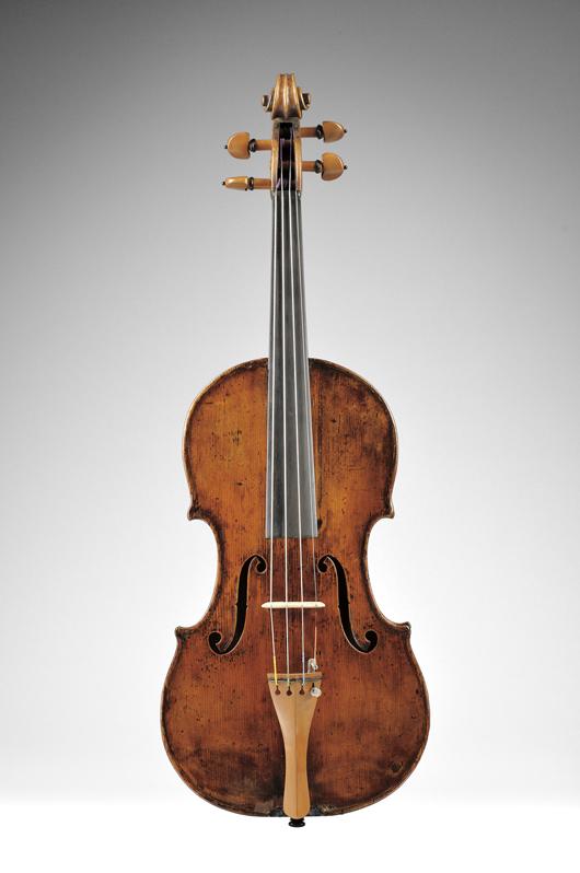 French violin, School of J.B. Vuillaume, circa. 1860, $10,000-14,000. Image courtesy of Skinner Inc.