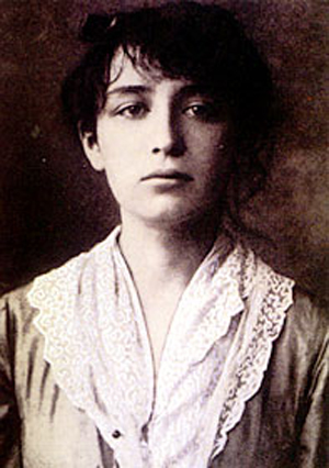 Rodin's lover and associate Camille Claudel. Image courtesy of Wikimedia Commons.