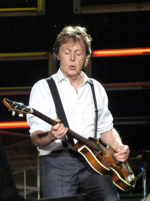 Paul McCartney performing in Dublin in 2010. This file is licensed under the Creative Commons Attribution-Share Alike 2.0 Generic license.