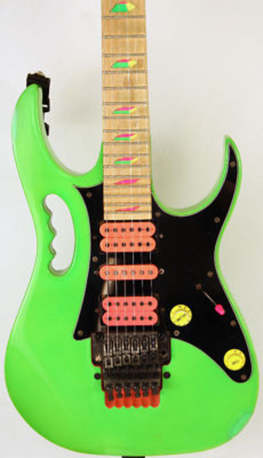 The 1987 Ibanez Jem appealed to a younger Pete Prown's hard-rock tastes. Image courtesy of Pete Prown.