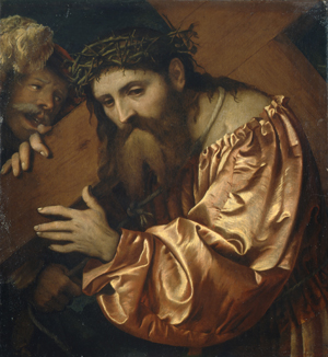 Girolamo Romanino's 'Cristo Portacroce,' or 'Christ Carrying the Cross,' circa 1542, may have been stolen from a Jewish family by the Nazis. Image courtesy of the Mary Brogan Museum of Art and Science.