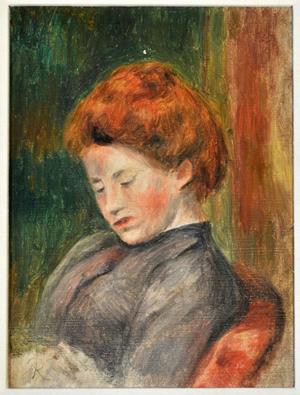 Lot 33, Pierre-Auguste Renoir (1841-1919), 'Tete de Femme,' oil on canvas. Image courtesy of Gray's Auctioneers.