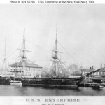 USS Enterprise at the New York Navy Yard, circa spring 1890. Image courtesy of Wikimedia Commons.