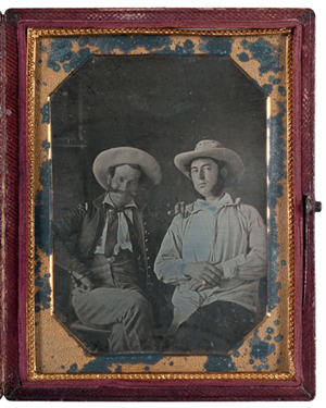 Mexican War daguerreotype of identified officers from the 5th U.S. Infantry. Estimate: $10,000-$15,000. Image courtesy of Cowan's Auctions Inc.
