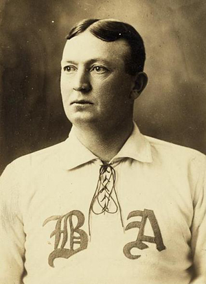 Cy Young won two games in the 1903 World Series to lead the Boston Americans to victory over the Pittsburgh Pirates. A baseball autographed by Young sold at the Hunt auction for $51,570. Image courtesy of Wikimedia Commons.