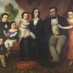 William E. Winner (American, 1815-1883), oil on canvas portrait of John Davis Jones and family of Philadelphia (framed), signed, 62 x 80 inches. Estimate: $20,000-$30,000. Image courtesy of Rago Arts and Auction Center.