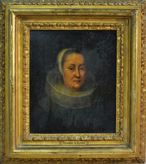 Old master framed portrait of a lady. Image courtesy of Woodbury Auctions.