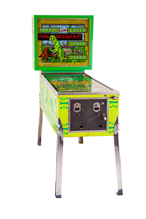 Bally 'Four Million B.C.' pinball machine. Estimate $600-$800. Abell Auctions image.
